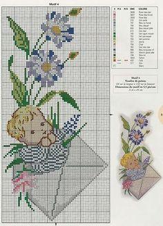 bébé - baby - garçon - point de croix - cross stitch - Blog : http://broderiemimie44.canalblog.com/