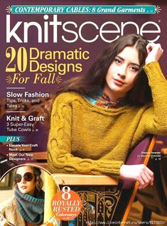 digital book Create 20 dramatic, beautiful, and smart knitting designs in knitscene, Fall Knitting Magazine, Crochet Magazine, Knitting Books, Free Knitting, Knitting Designs, Knitting Patterns, Templer, How To Start Knitting, Slow Fashion