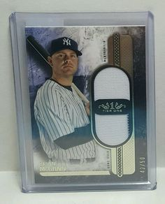 2016 Topps Tier One Brian McCann Dual Jersey Relic /50 NY Yankees T1DR-BM #NewYorkYankees