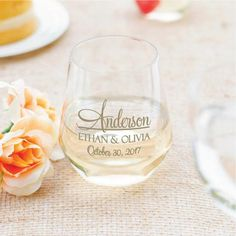 Items similar to Wedding wine glasses, budget friendly wedding favors, stemless wine glasses, personalized plastic stemless wine glasses, 64 pieces on Etsy Wedding Wine Glasses, Creative Wedding Favors, Inexpensive Wedding Favors, Elegant Wedding Favors, Wedding Favors For Guests, Wedding Unique, Cheap Favors, Practical Wedding, Plastic Wine Glasses