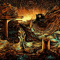 Detail of work by US illustrator James R. Eads.
