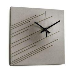 Impression Wall Clock - concrete & metal