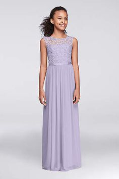 Make them mint/real and they're perfect for Junior & Girls Bridesmaid Dresses | David's Bridal