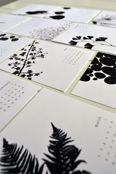 2014 Desk Calendar  Black and White by JPress by JPressDesigns, $15.00