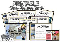 The First Grade Parade: All About the Weather - Ideas & Freebies! Weather Activities, Teaching Activities, Hands On Activities, Activity Games, Fun Learning, Primary Teaching, Primary Classroom, Science Classroom, Classroom Ideas