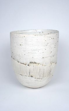 Ani Kasten; Large White Bowl with Porcelain Band