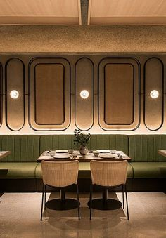 Minimal Interior Design Shapes this Interior Nomadic Hotel # Lehrstuhl im Warehouse Hotel Restaurant, Singapur Architecture Restaurant, Restaurant Interior Design, Cafe Interior, Modern Interior Design, Asian Interior, Brown Interior, Restaurant Furniture, Modern Architecture, Design Hotel