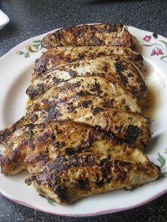 Mustard and Rosemary Chicken - I didn't have whole grain mustard so used Grey Poupon instead.  Delicious .. Next time I will make extra minus the olive oil and use for a dipping sauce.
