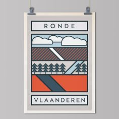 The Routes: Tour of Flanders - Cycling Art Print – The Handmade Cyclist