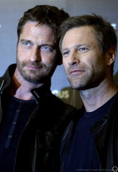 HQ Gerard Butler & Aaron Eckhart: 'Olympus Has Fallen' photo shoot - Rome, Italy - April 5, 2013