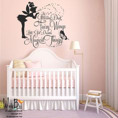 CUSTOMISE NAME u0026 FAIRY; BUTTERFLIES Kids Removable Wall Decal for Girls Room | Butterfly kids Removable wall decals and Removable wall  sc 1 st  Pinterest & CUSTOMISE NAME u0026 FAIRY; BUTTERFLIES Kids Removable Wall Decal for ...