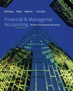 Solution manual for Cost Accounting A Managerial Emphasis  th