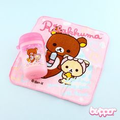 Rilakkuma Mini Travel Towel Set - Pink