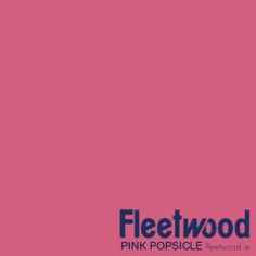Fleetwood Paint's Pink Popsicle - Available from the Cool Colours range. Fleetwood Cool Colours is a water-based paint that is low in odour and contains low VOCs. It has been specially formulated for rooms that require an ultra durable paint for easy clean-up protection Fleetwood Paint, Summer Colours, Popsicles, Paint Ideas, Color Inspiration, Rooms, Range, Water, Easy