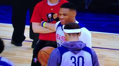 NBA All-Star West Practice: Russell Westbrook, Stephen Curry Talk, But W...