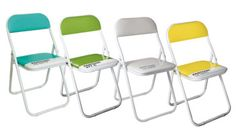 Pantone Chairs ... a folding chair with so much possibility—dining table, office, impromptu party, or to throw stuff on in the corner of a bedroom.