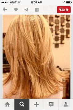 Asked my hair stylist to layer my hair like this! Love it