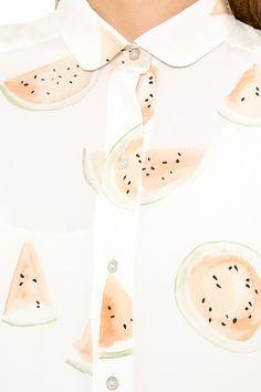decade diary x mih jeans watermelon print dress