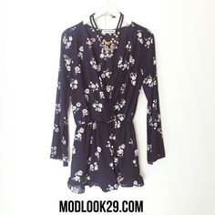 Dress up or down with our versatile penelope blue floral romper available in store and online @ www.modlook29.com!