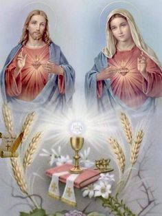 Adoration Catholic, Pictures Of Jesus Christ, Blessed Mother Mary, Mary And Jesus, Heart Of Jesus, Bible Prayers, Sacred Heart, Kirchen, Religious Art
