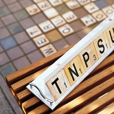 outdoor scrabble letters made from baseboard trim & vinyl letters! I VERY SERUOUSLY need to do this!