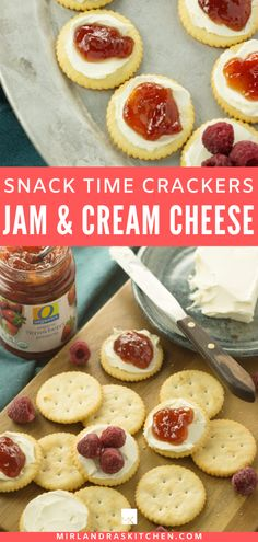 When I'm craving cheesecake I bust out these simple Fruit and Cream Cheese Crackers instead. They are an easy healthy option when I'm in treat mode. They also work great as a toddler snack, party appetizer, after school snack or game day treat. #snack #healthyeating #fruit #kidfood Healthy Snack Options, Healthy Snacks, Kids Meals, Easy Meals, Cheese Bombs, Sugar Scrub Diy, Toddler Snacks, After School Snacks, Appetizers For Party