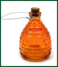 Wespenfalle orange Wespenfänger Glas Wohnen + Dekoration Garten, Terrasse und Außendekoration