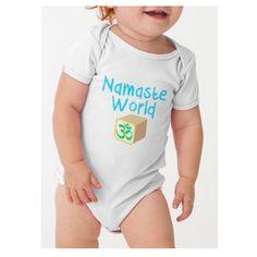SO CUTE! >>> NAMASTE WORLD - INFANT ONESIE