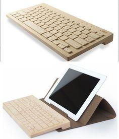 handmade wooden keyboards