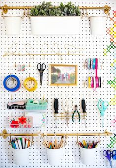 You are in the right place about makeup room ideas co Ikea Pegboard, Pegboard Craft Room, Painted Pegboard, Pegboard Organization, Kitchen Pegboard, Cricut Craft Room, Craft Room Storage, Pegboard Display, Pegboard Garage