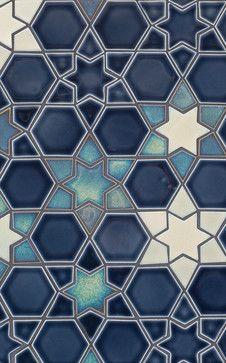 Mosaic Glazed Ceramic Tile Designed by Pratt & Larson Ceramics Geometric Patterns, Tile Patterns, Geometric Art, Pattern Art, Textures Patterns, Hexagon Pattern, Herringbone Pattern, Moroccan Pattern, Moroccan Design