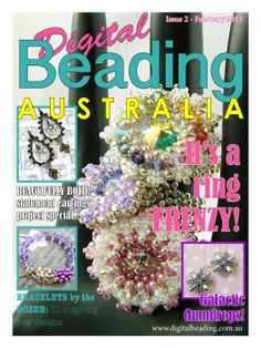 Published in Digital Beading Australia - You can call me crazy, but I give this beading tutorial for FREE! This free beading tutorial is somewhere in my shop Bead Making Tutorials, Free Beading Tutorials, Beading Patterns, Magazine Beads, Magazine Crafts, Beaded Jewelry Designs, Beaded Jewellery, Jewelry Ideas, Stitch Book