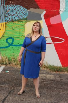 Idle Fancy - Appleton Dress - Cashmerette Patterns - Blue Jersey