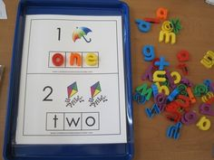 Number-word recognition center idea, could be modified for word families
