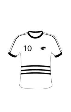 Nominette en forme de maillot de football pour une décoration sur le thème du foot. Nominette pour personnaliser vos contenant à dragées, pour décorer votre table.. Étiquette pour décoration football Voici, Table, Tops, Fashion, Shape, Pattern, Moda, Fashion Styles, Tables