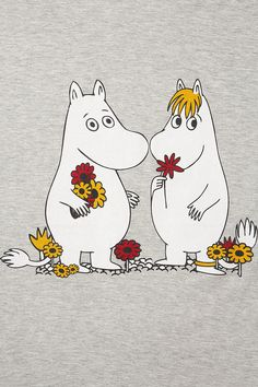 MOOMINS PJ SET Les Moomins, Moomin Valley, Tove Jansson, Couple Cartoon, Little My, Cute Characters, Illustrations Posters, Embroidery Patterns, Troll