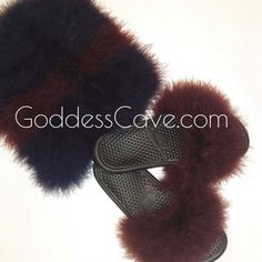 Fuzzy clutch purses with Nike slides! Listing coming soon