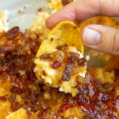 Captain Rodney's Dip is the ultimate party food. This outrageously good dip recipe is what every party, tailgate, and cookout needs! #dip #appetizer #creamcheese #CaptainRodneys #bacon #tailgating #watchparty #easy