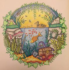 Page from Enchanted Forest completed on 22nd August 2015 using only Polychromos.