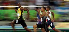 O sorriso de Usain Bolt, o homem mais rápido do mundo, registrado pelo fotógrafo Cameron Spencer. Uma das muitas imagens dos Jogos Rio 2016 que se tornaram viral na web.