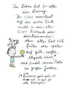 karindrawings.de / Das Leben hat für alles eine Lösung.