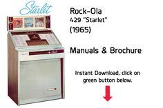 "Rock-Ola 429 ""Starlet"" (1965) Manual  Jukebox Manual available $15 Download at jukeboxmanuals.com   Tags: Rock Ola RockOla"