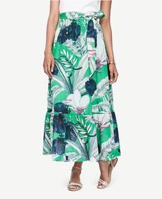 Primary Image of Palm Leaf Maxi Skirt