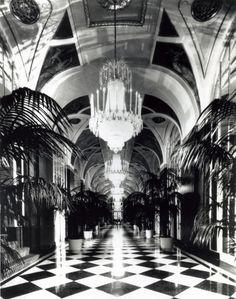 Silver corridor at the Waldorf