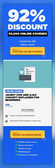 JQuery DOM and Ajax Concept Explained for Beginners Web Development, Development  Learn Fundamental jQuery as per the Current Industry Demands. Overview JQuery is a popular JavaScript library that is used extensively in modern websites. This library facilitates common JavaScript tasks for example event management, cartoons, manipulating HTML content, and communication with outside servers. What yo...
