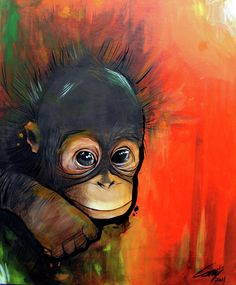 30 God Level Animal Paintings You'll Surely Love Monkey Drawing, Monkey Art, Colorful Animal Paintings, Illustration Art, Illustrations, Aboriginal Art, Wildlife Art, Acrylic Art, Animal Drawings
