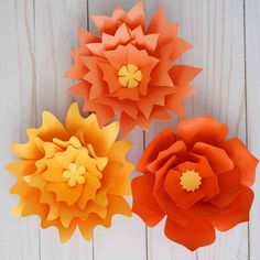 large paper flowers Giant paper flower templates series, free SVG, DXF and PNG cut files Making Tissue Paper Flowers, Rolled Paper Flowers, Tissue Flowers, Large Paper Flowers, Paper Flowers Wedding, Paper Flower Wall, Paper Flower Backdrop, Giant Paper Flowers, Paper Roses