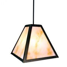Steel Partners Timber Ridge 1 Light Outdoor Pendant Finish: Old Iron, Shade Type: Slag Glass Pretended