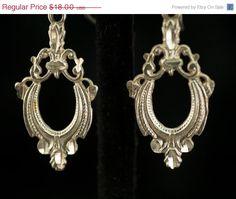 Sterling Silver Dangle Earrings by DianaKirkpatrickArt on Etsy