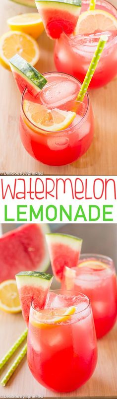 This Watermelon Lemonade is super easy to make and is the perfect summer drink! This Watermelon Lemonade is super easy to make and is the perfect summer drink! Summer Snacks, Summer Treats, Summer Recipes, Summer Parties, Tea Parties, Refreshing Drinks, Fun Drinks, Healthy Drinks, Party Drinks